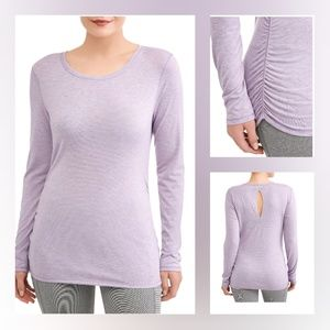 Athletic Works Women's Ruched Long Sleeve Tee